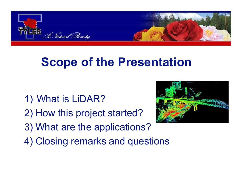 1) What is LiDAR? 2) How this project started? ...