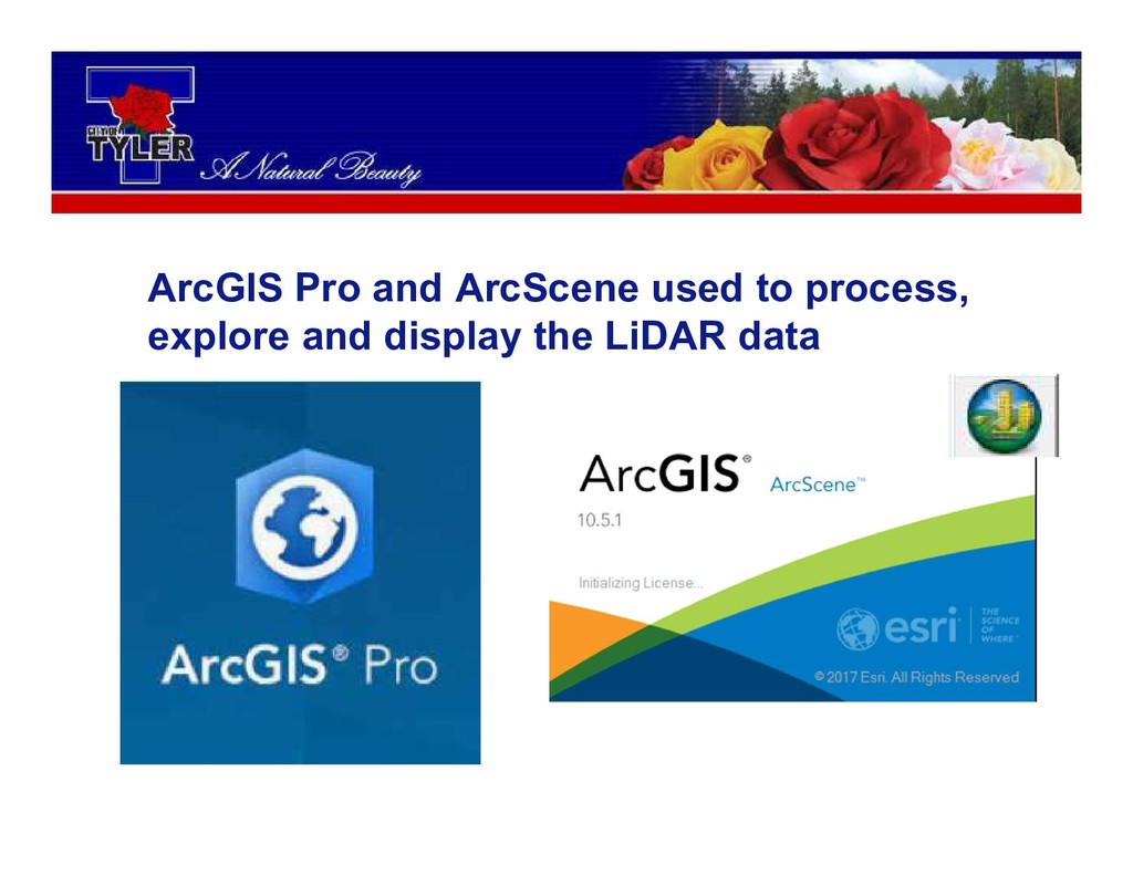 ArcGIS Pro and ArcScene used to process, explor...