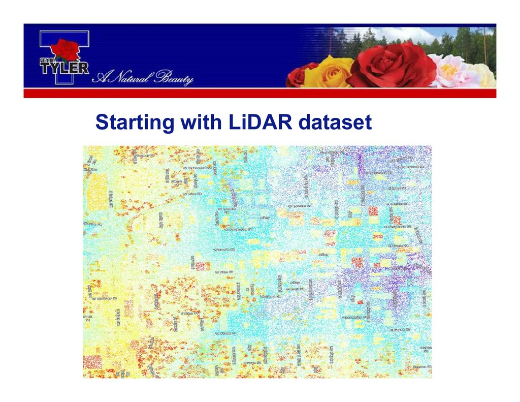 Starting with LiDAR dataset