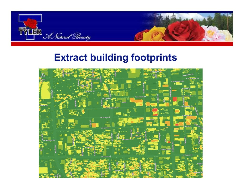 Extract building footprints