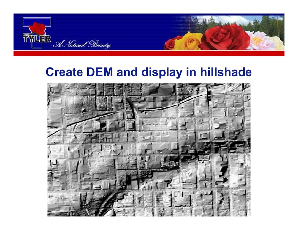 Create DEM and display in hillshade