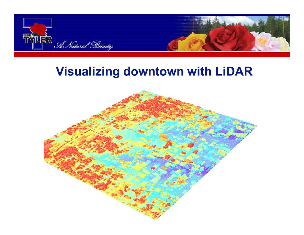 Visualizing downtown with LiDAR