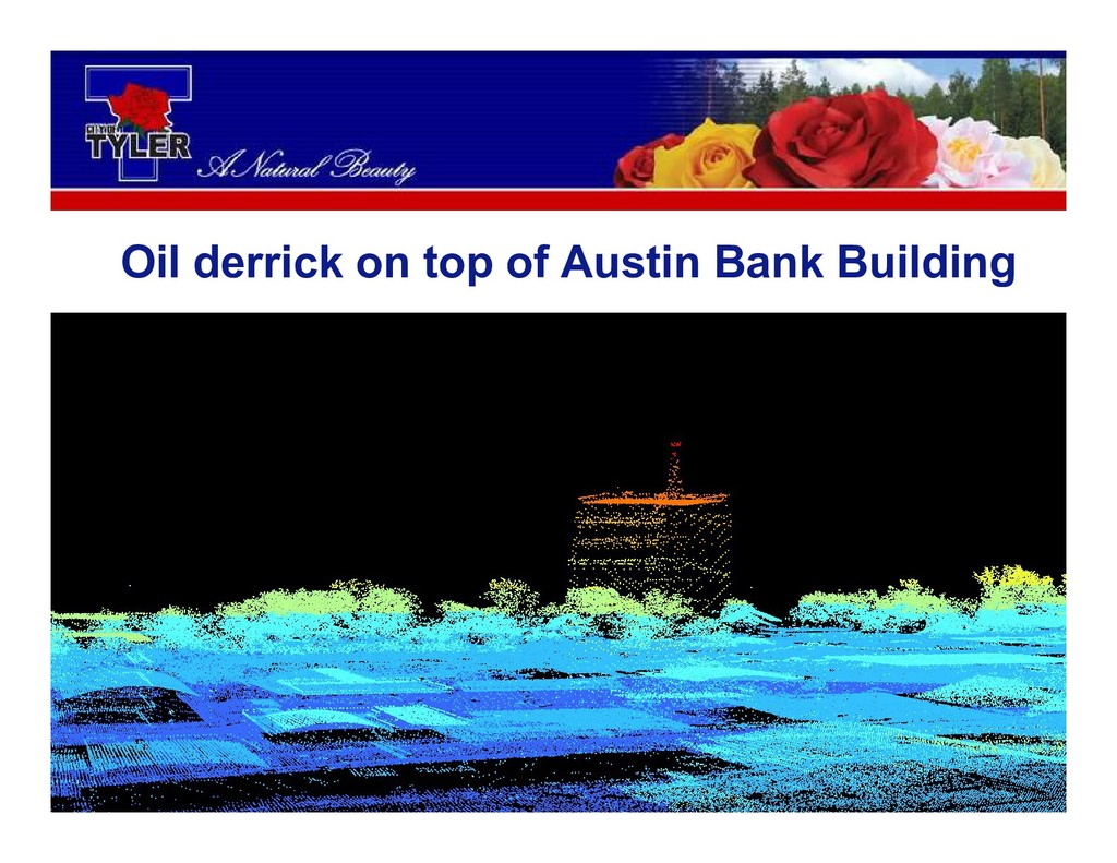 Oil derrick on top of Austin Bank Building
