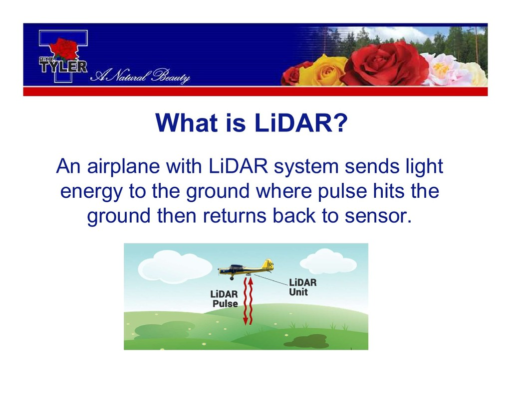 An airplane with LiDAR system sends light energ...