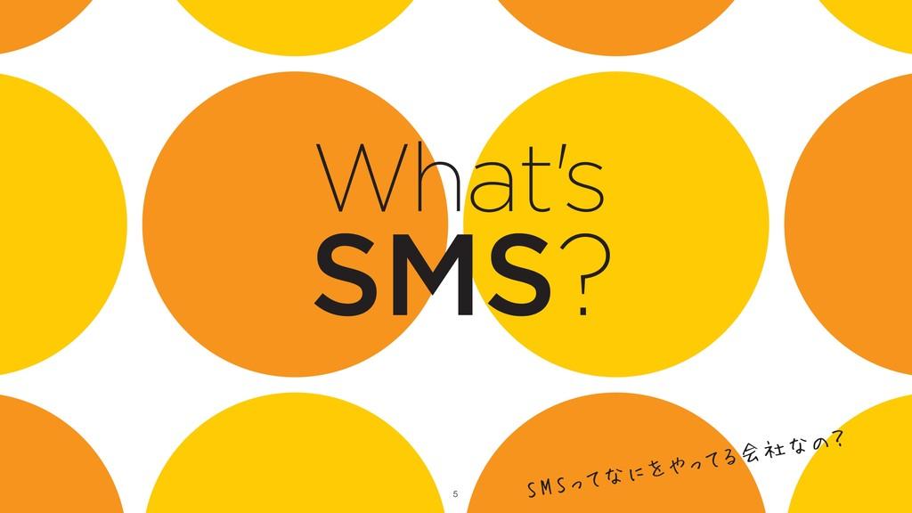 !5 SMS? What's SMSってなにをやってる会社なの?