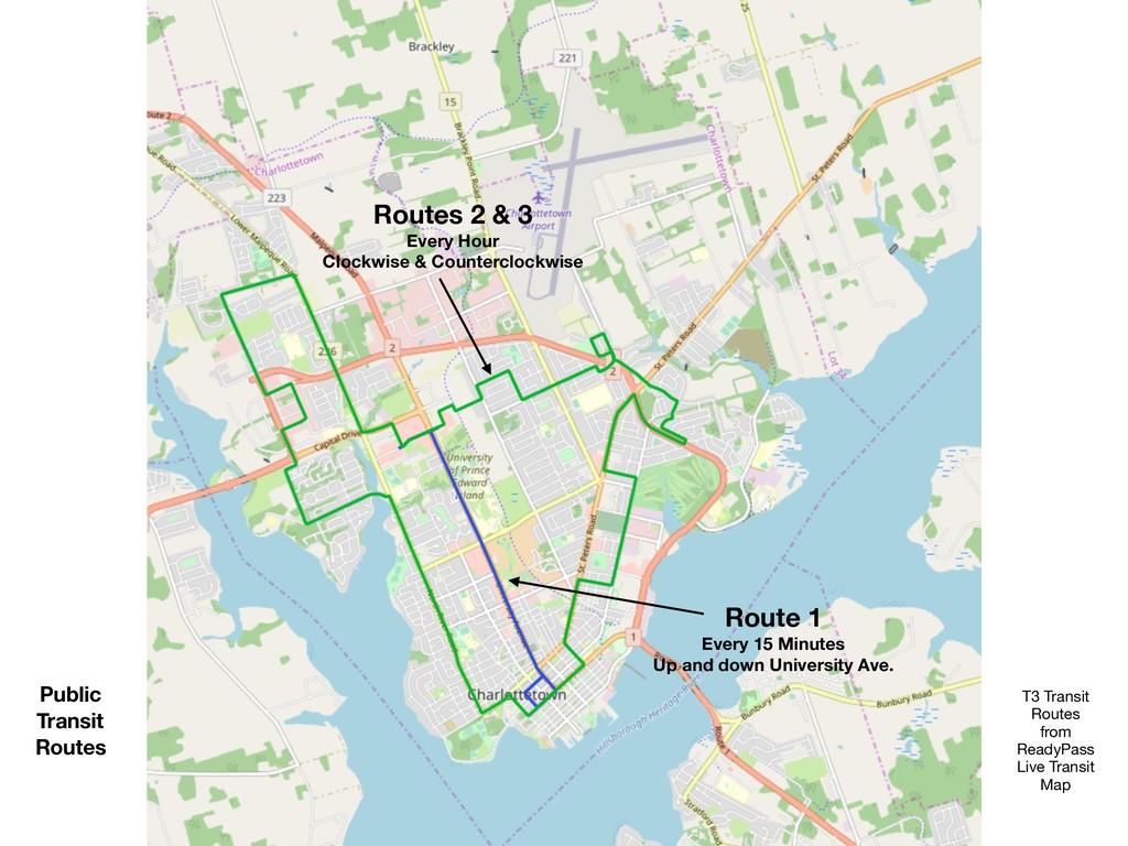 Public Transit Routes Routes 2 & 3 Every Hour C...