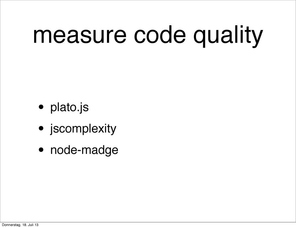 measure code quality • plato.js • jscomplexity ...