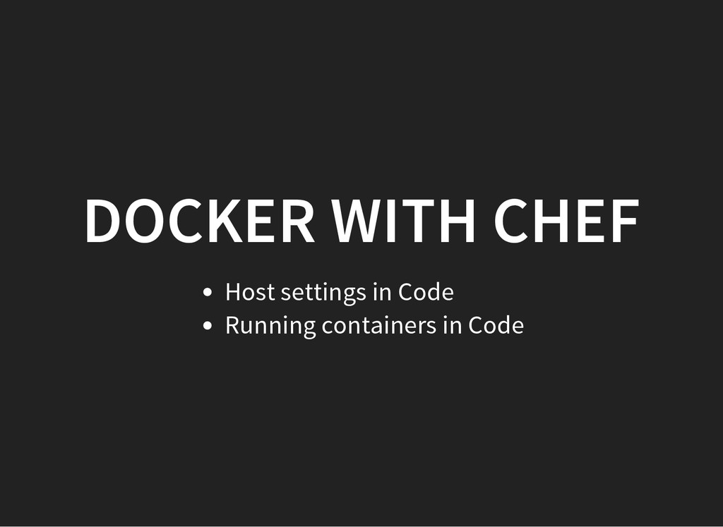 DOCKER WITH CHEF Host settings in Code Running ...