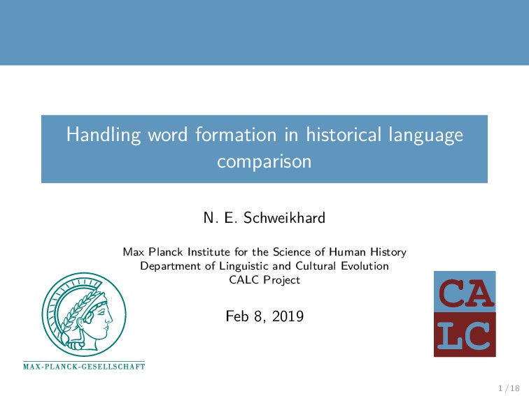 LC CA Handling word formation in historical lan...