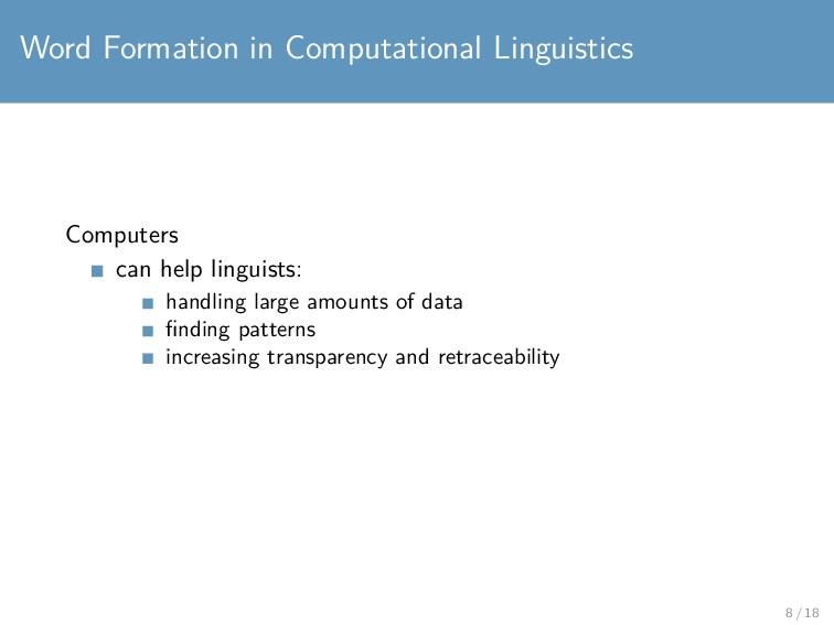 Word Formation in Computational Linguistics Com...