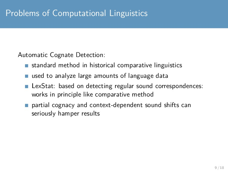 Problems of Computational Linguistics Automatic...