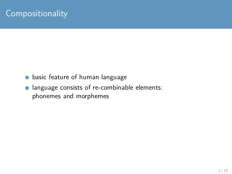Compositionality basic feature of human languag...