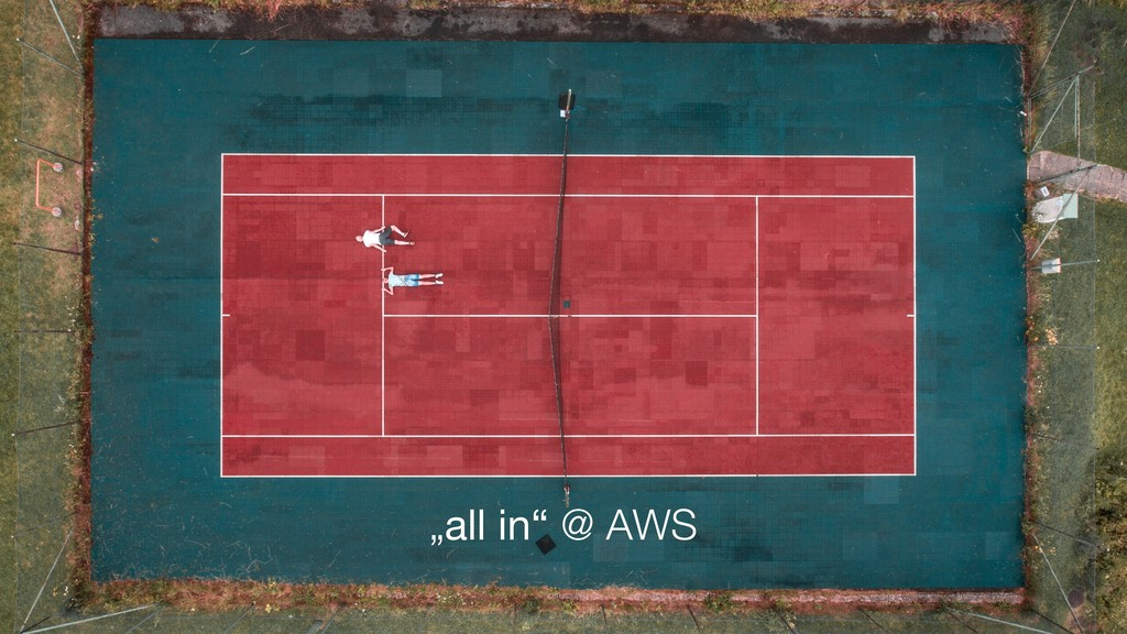 """""""all in"""" @ AWS"""