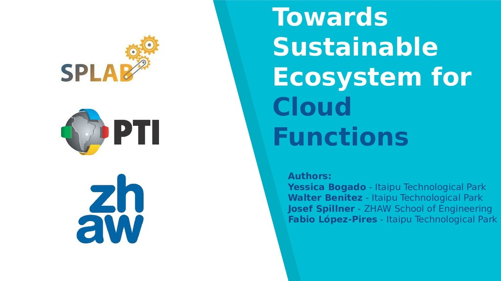 Towards Sustainable Ecosystem for Cloud Functio...