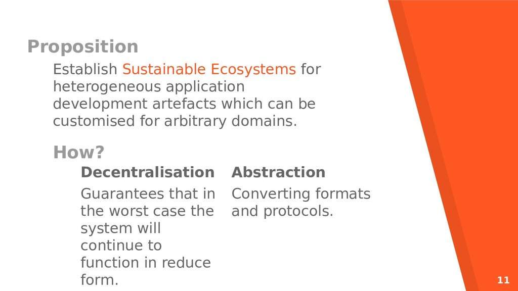 11 Proposition Establish Sustainable Ecosystems...