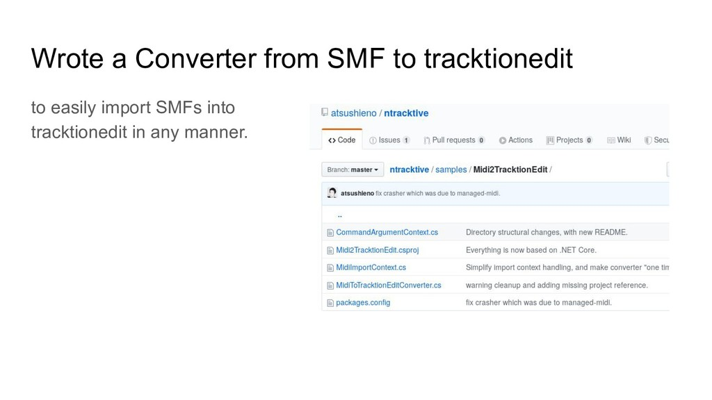 Wrote a Converter from SMF to tracktionedit to ...