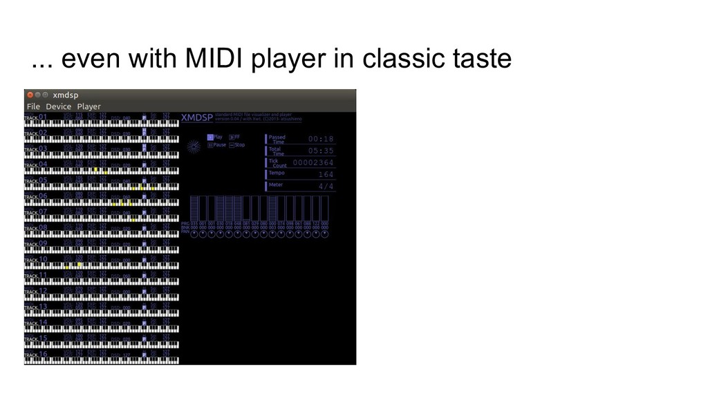 ... even with MIDI player in classic taste
