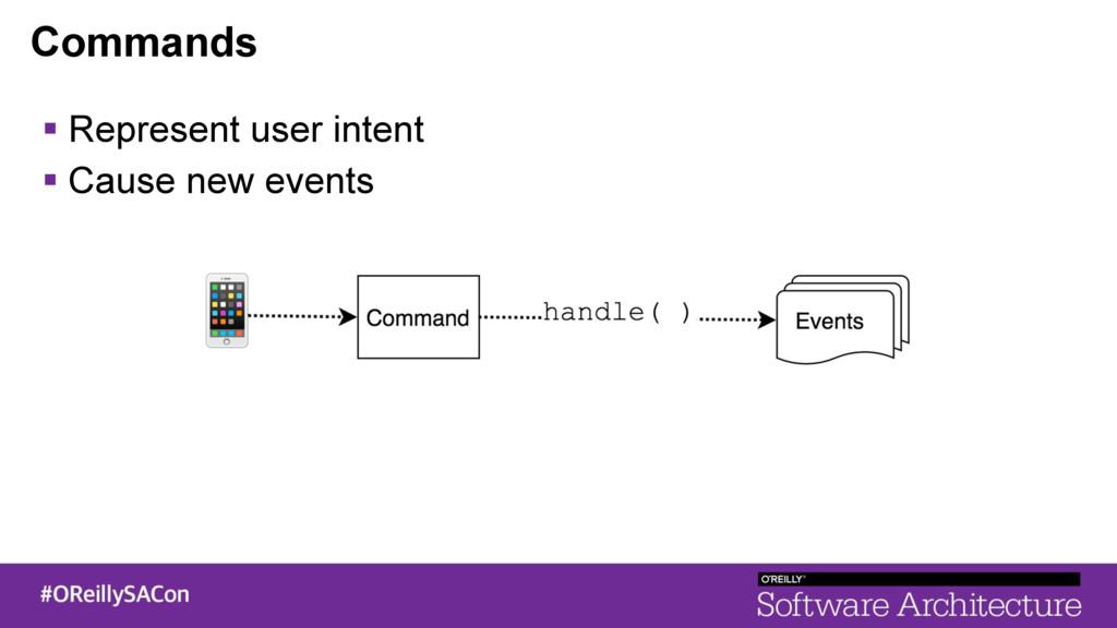Commands ! Represent user intent ! Cause new ev...