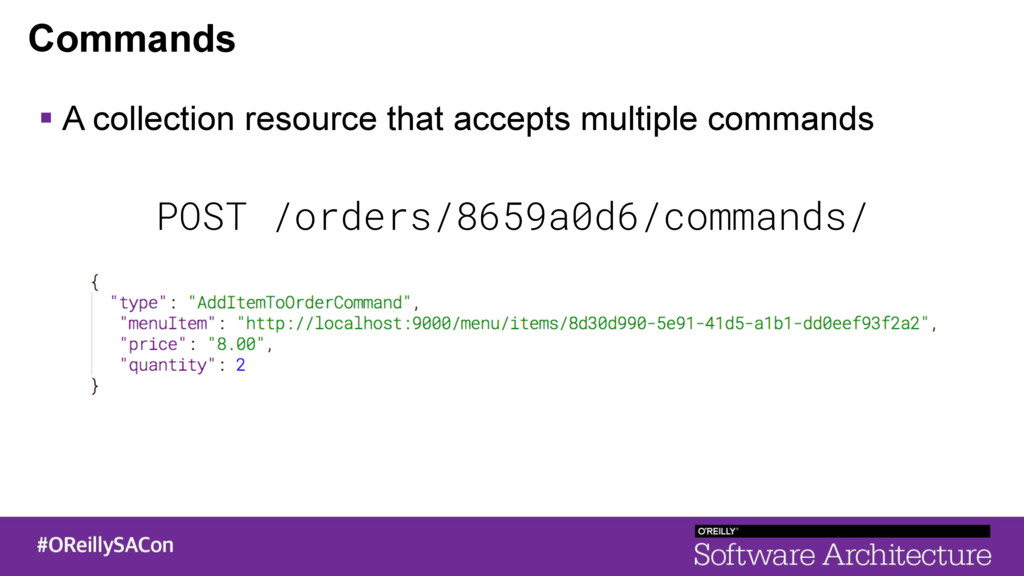Commands ! A collection resource that accepts m...