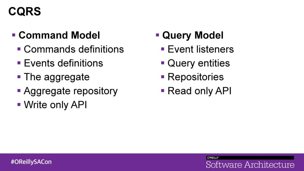 CQRS ! Command Model ! Commands definitions ! E...