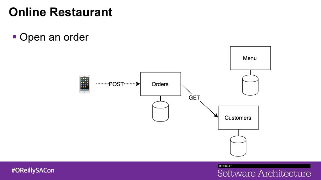 Online Restaurant ! Open an order