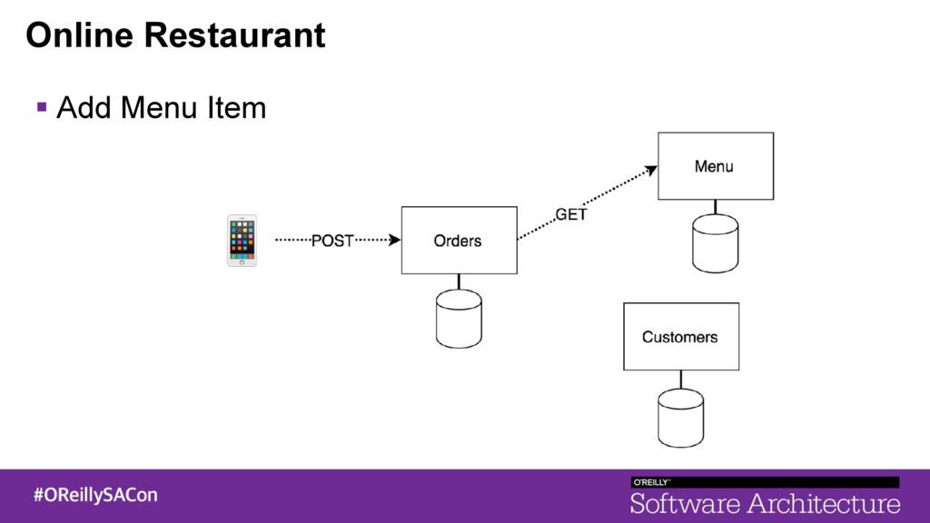 Online Restaurant ! Add Menu Item
