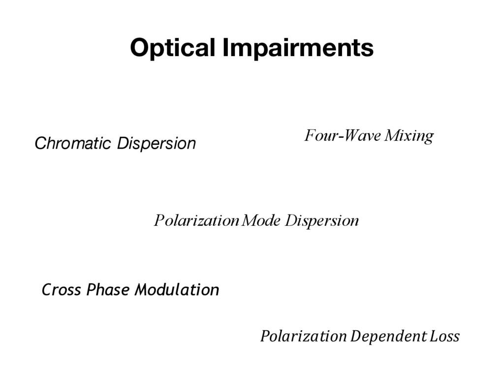 Optical Impairments Chromatic Dispersion Polari...