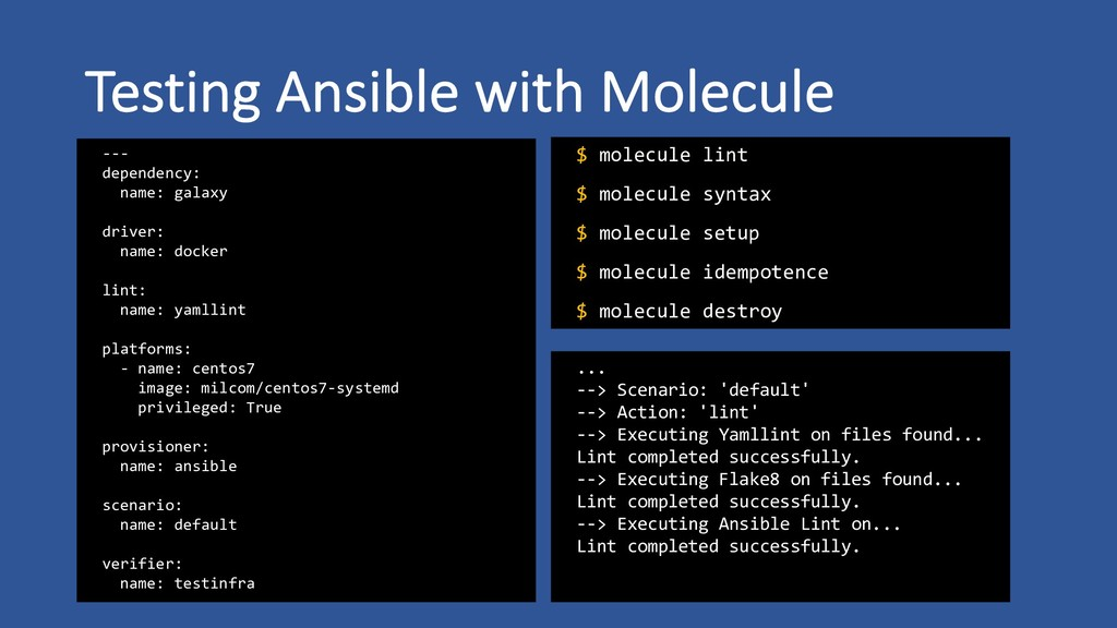 Testing Ansible with Molecule --- dependency: n...