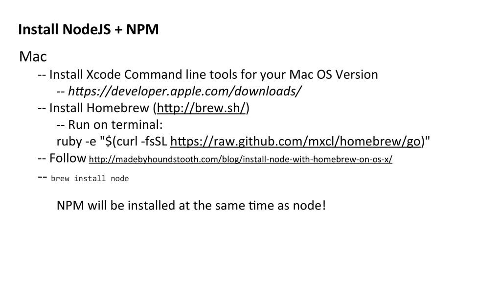 Mac -‐-‐ Install Xcode Command li...