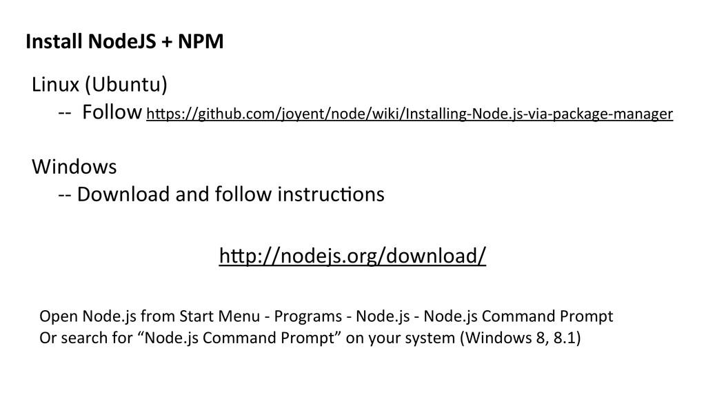 Linux (Ubuntu) -‐-‐  Follow hVps:...