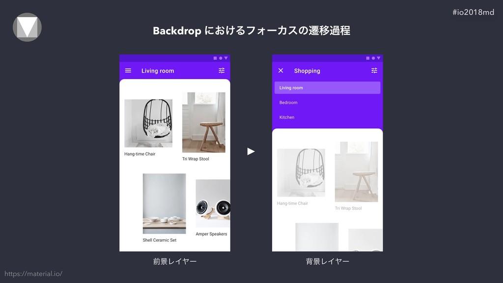 Backdrop ʹ͓͚ΔϑΥʔΧεͷભҠաఔ https://material.io/ #i...