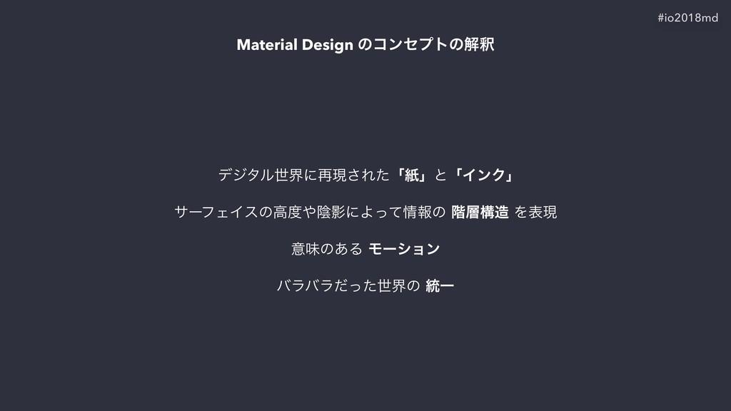 Material Design ͷίϯηϓτͷղऍ σδλϧੈքʹ࠶ݱ͞ΕͨʮࢴʯͱʮΠϯΫ'n...
