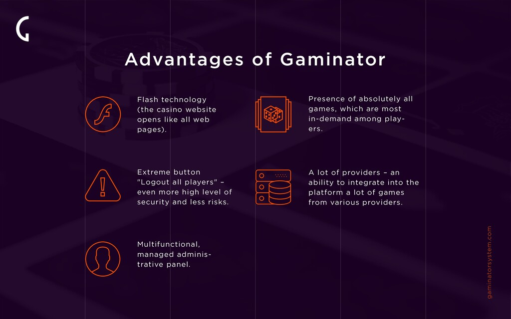 Advantages of Gaminator Flash technology (the c...