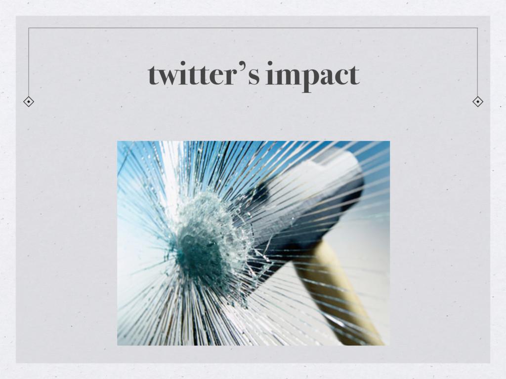 twitter's impact