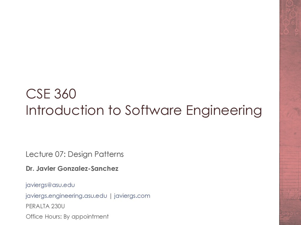 CSE 360 Introduction to Software Engineering Le...