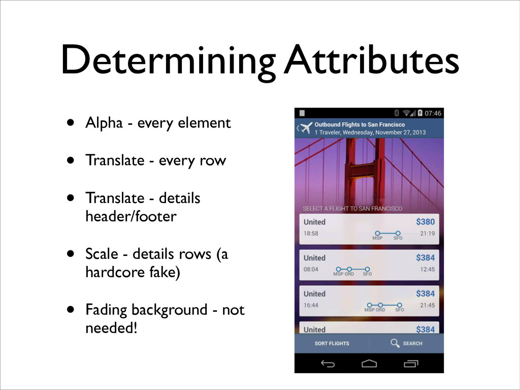 Determining Attributes • Alpha - every element...