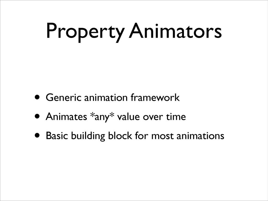 Property Animators • Generic animation framewor...