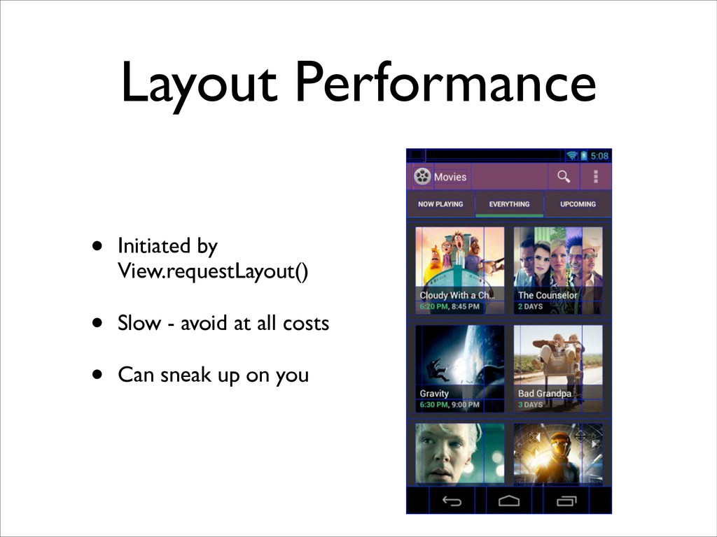Layout Performance • Initiated by View.requestL...