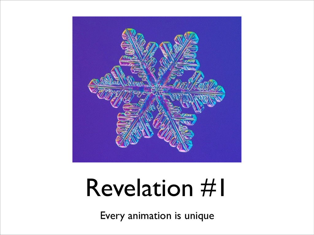 Revelation #1 Every animation is unique