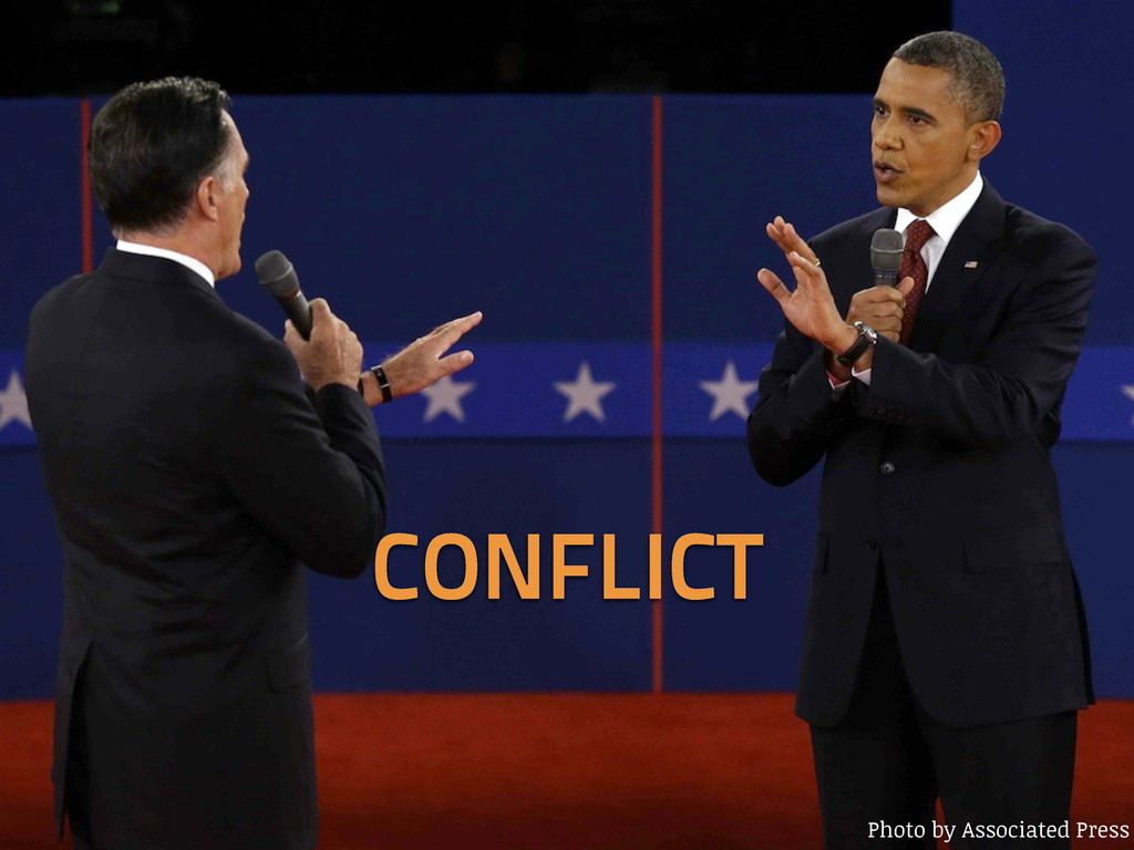 Photo by Associated Press CONFLICT