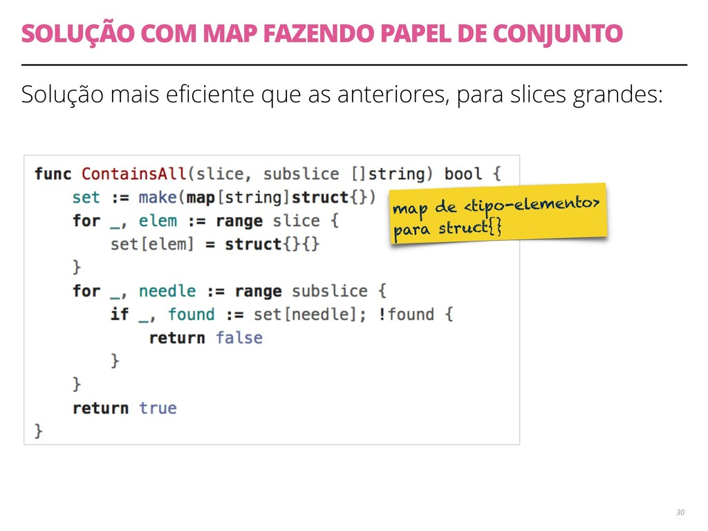 SOLUÇÃO COM MAP FAZENDO PAPEL DE CONJUNTO Soluç...
