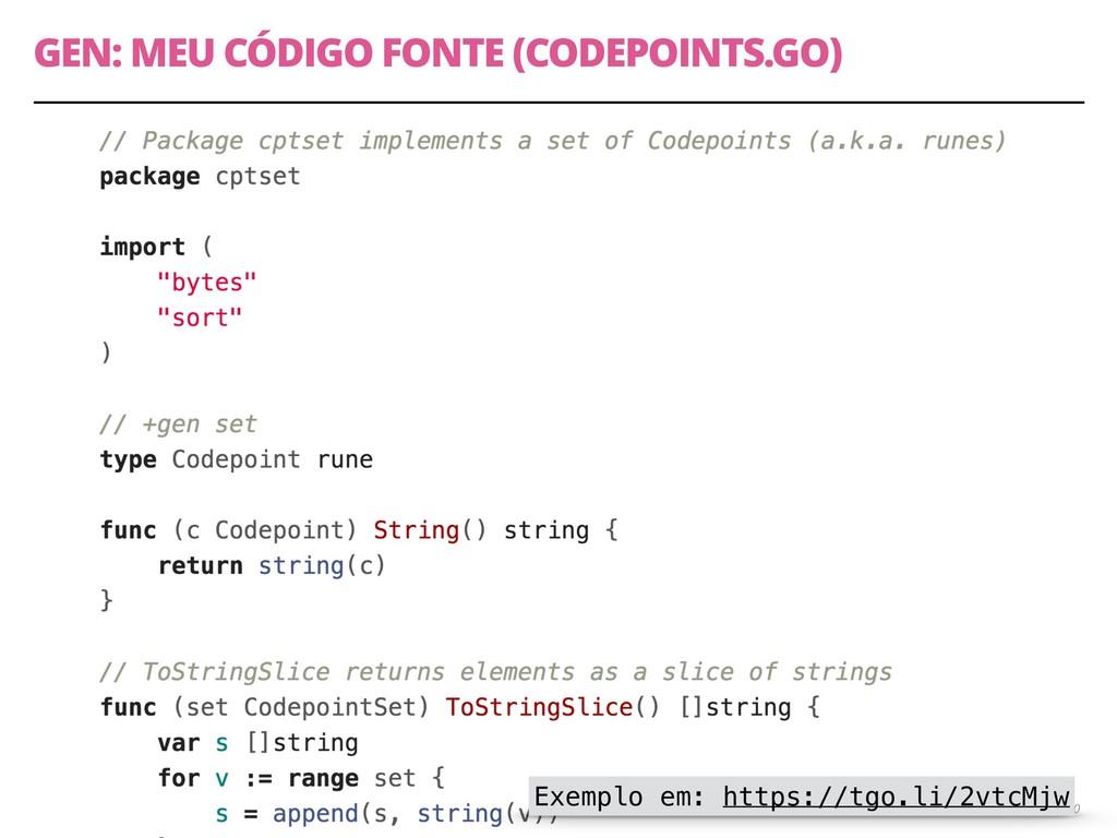 GEN: MEU CÓDIGO FONTE (CODEPOINTS.GO) 50 Exempl...