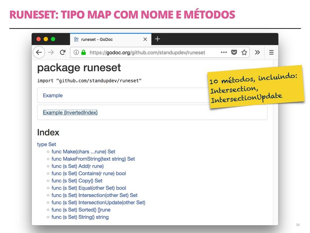 RUNESET: TIPO MAP COM NOME E MÉTODOS 56 10 méto...