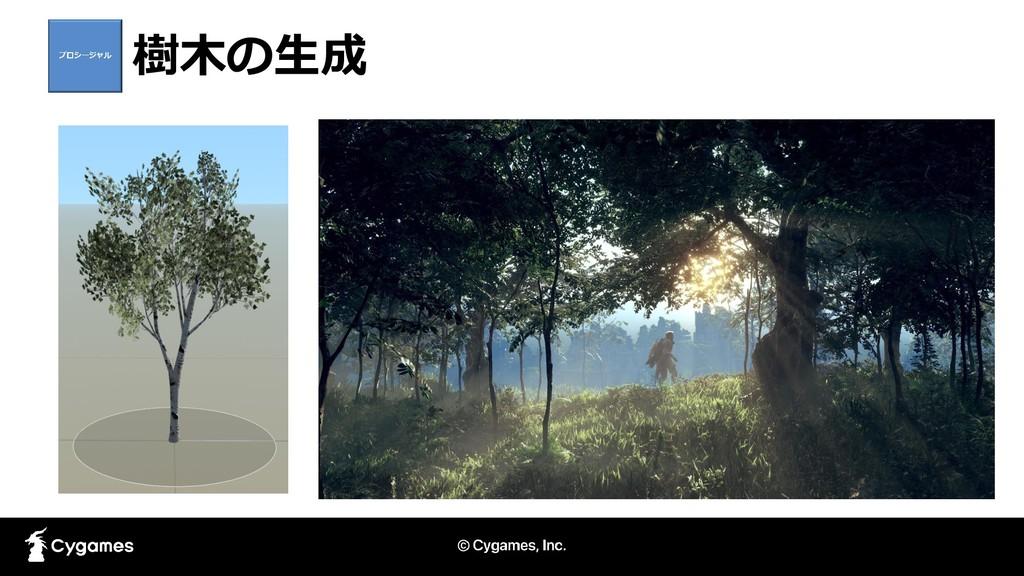 樹木の生成