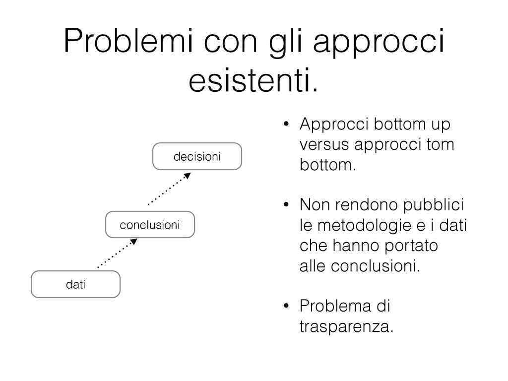 Problemi con gli approcci esistenti. • Approcci...