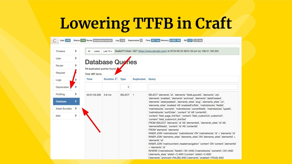 Lowering TTFB in Craft