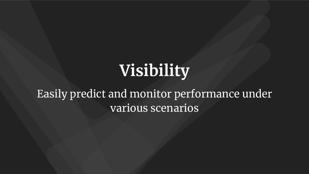 Visibility Easily predict and monitor performan...