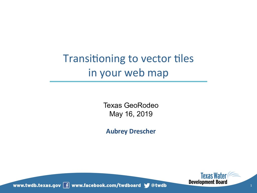 1 Transi)oning to vector )les in your web map T...
