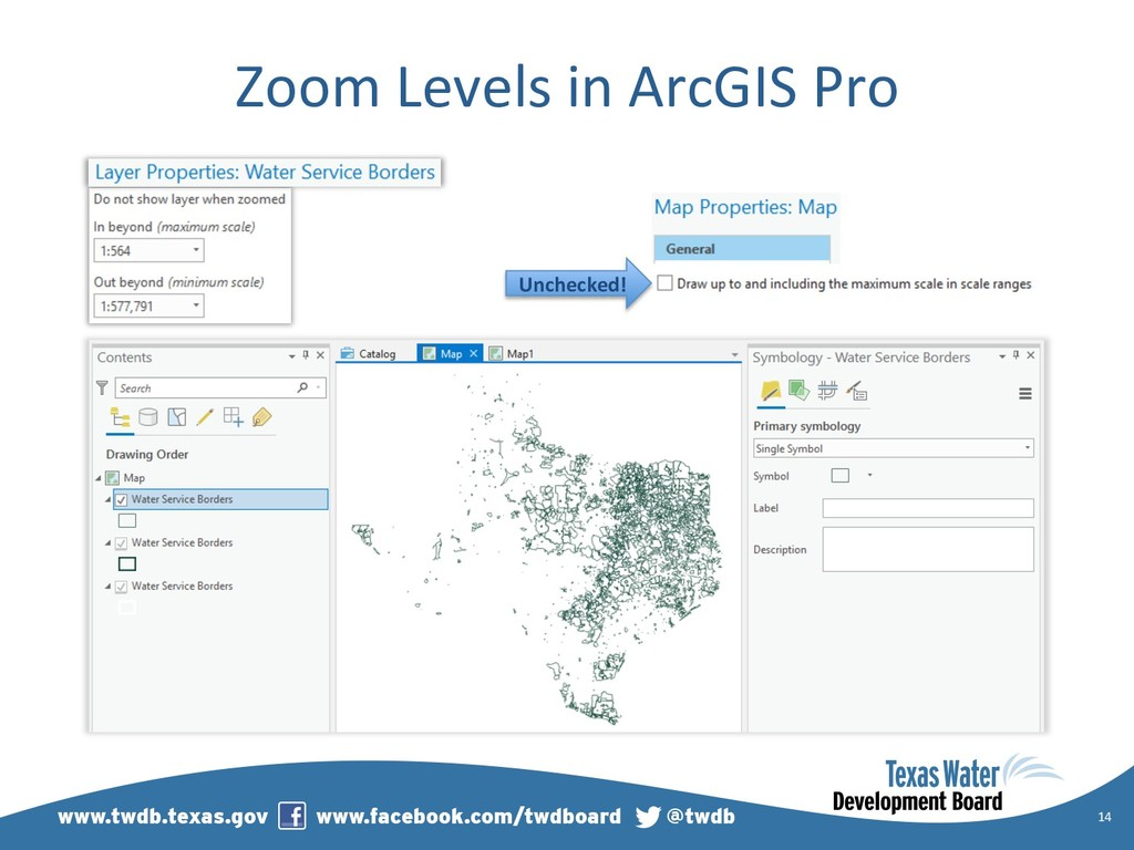 Zoom Levels in ArcGIS Pro 14 Unchecked!