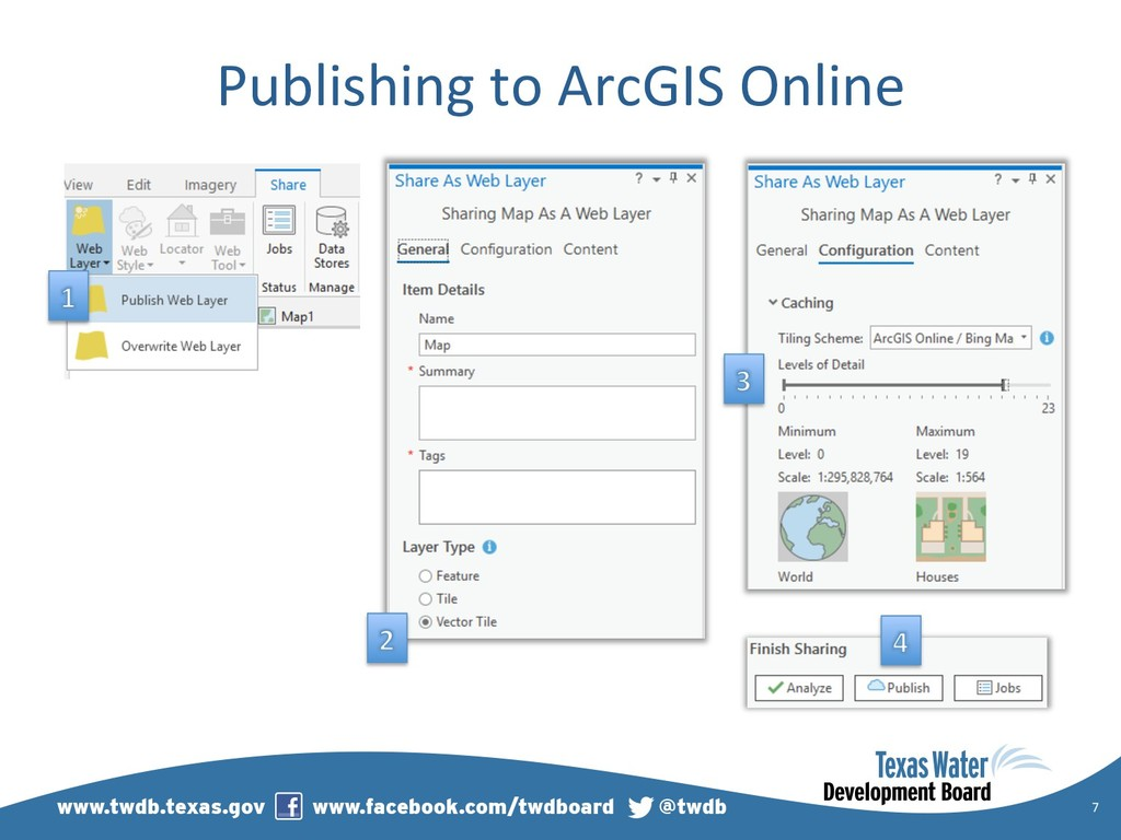 Publishing to ArcGIS Online 7